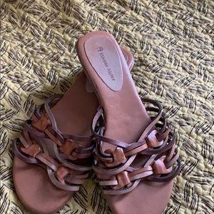 Etienne Aigner leather sandals